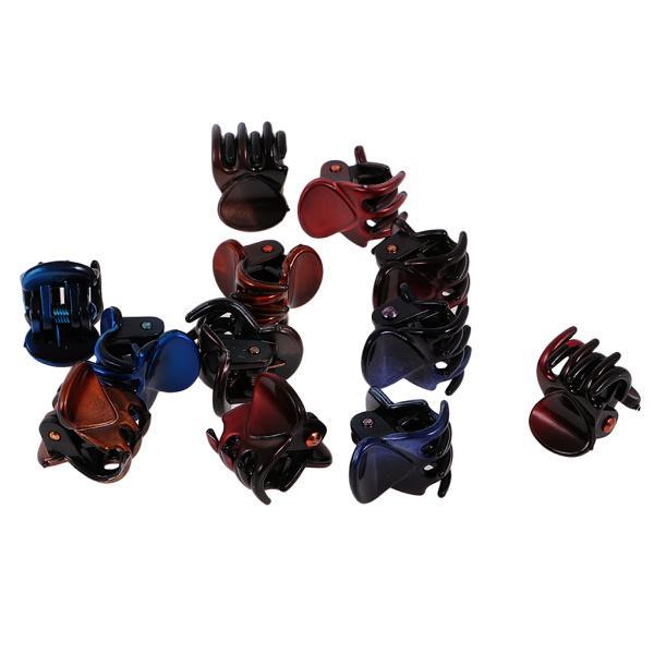 12個/ロットレディーガールミニヘアレジンクローズクランプクリップヘアグリップ|stk-shop|02
