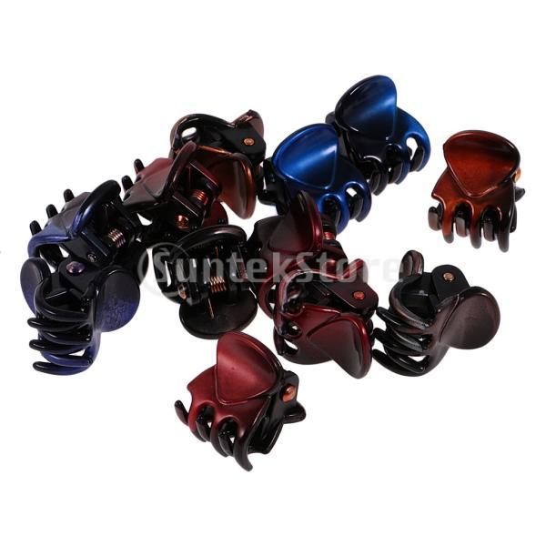 12個/ロットレディーガールミニヘアレジンクローズクランプクリップヘアグリップ|stk-shop|11