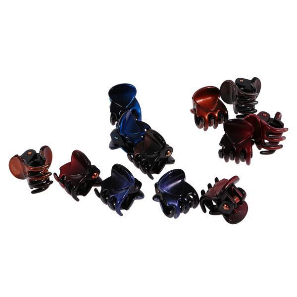 12個/ロットレディーガールミニヘアレジンクローズクランプクリップヘアグリップ|stk-shop|06