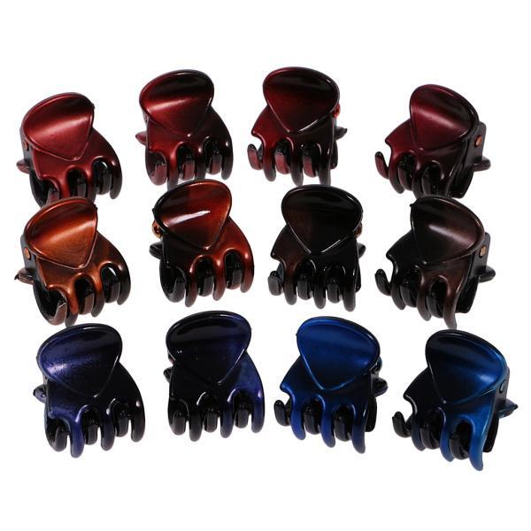 12個/ロットレディーガールミニヘアレジンクローズクランプクリップヘアグリップ|stk-shop|08