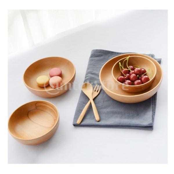 スープ米オートミール粥サラダのための日本のスタイルの木製のボウルの食品グレード