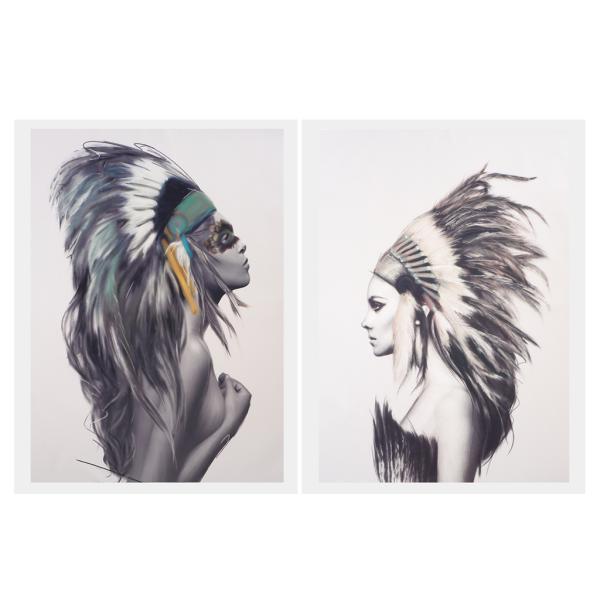 全3サイズ 2枚 現代 美術 油絵 キャンバス画像 カップル 壁 美しい 装飾