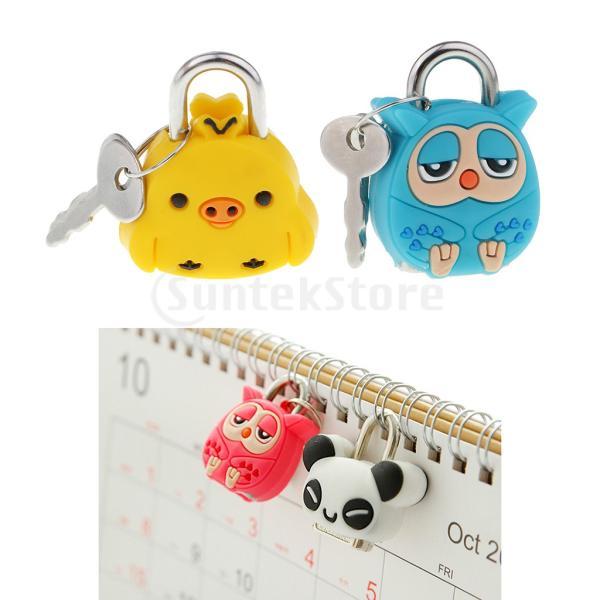 子供のためのキーとかわいい漫画の人形の動物のミニ南京錠のセキュリティロック
