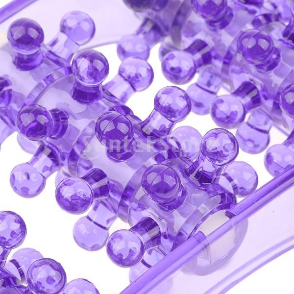 2個のプラスチックフットマッサージローラートリガーポイント自己マッサージツール|stk-shop|06