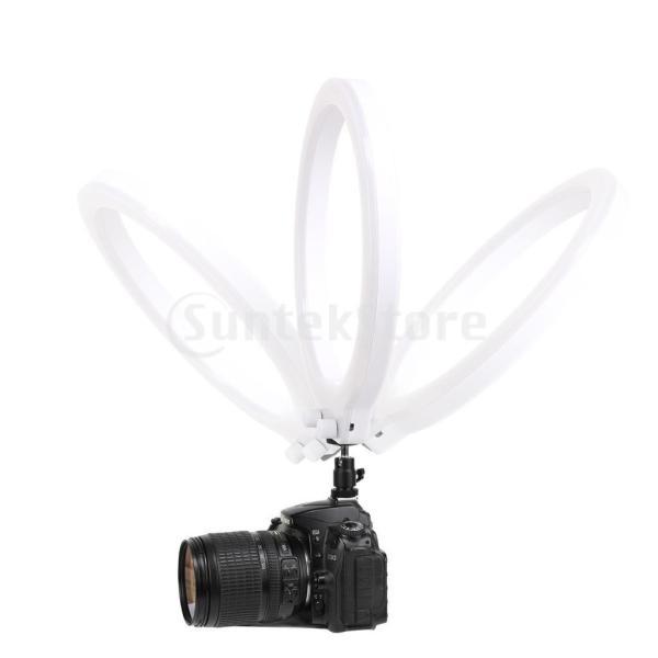 メイクアップビデオ撮影のためのクランプ付き調光リングライト