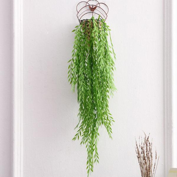 真珠の枝編み細工品壁掛け多肉植物植物の人工花のひも