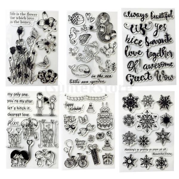スクラップブッククリスマスカードのためのクリアなシリコーンゴムスタンプシート|stk-shop