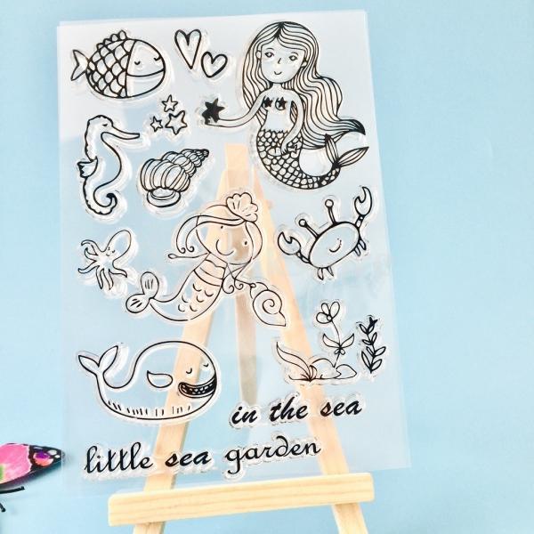 スクラップブッククリスマスカードのためのクリアなシリコーンゴムスタンプシート|stk-shop|07