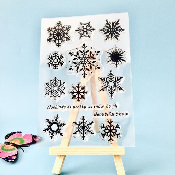 スクラップブッククリスマスカードのためのクリアなシリコーンゴムスタンプシート|stk-shop|09