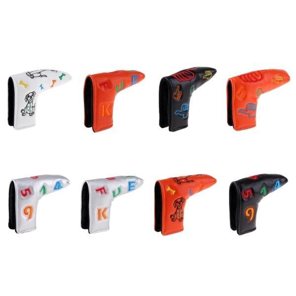 防水PUレザーゴルフブレードパターヘッドカバープロテクター|stk-shop|05