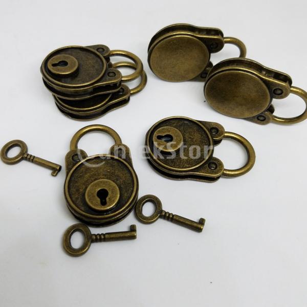 ジュエリーボックス収納日記帳のためのキー付きブリーヴィンテージ南京錠ミニロック