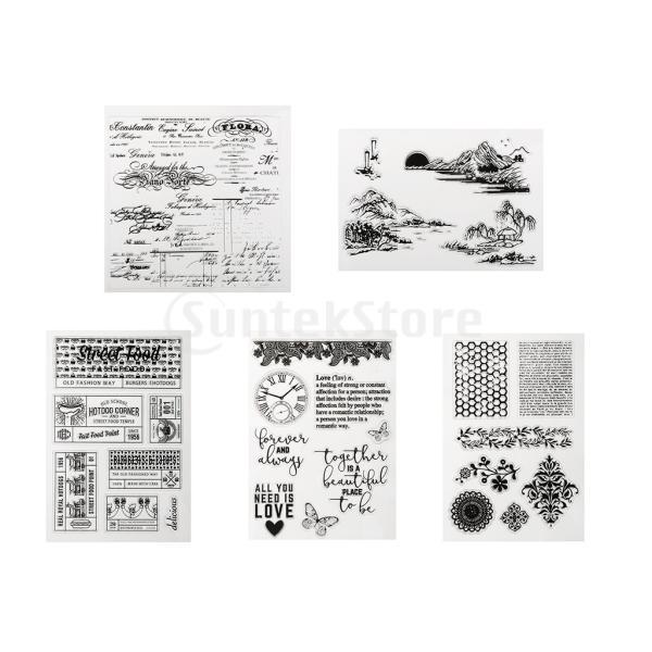 DIYスクラップブックアルバムのためのクリアなシリコーンゴムスタンプ stk-shop