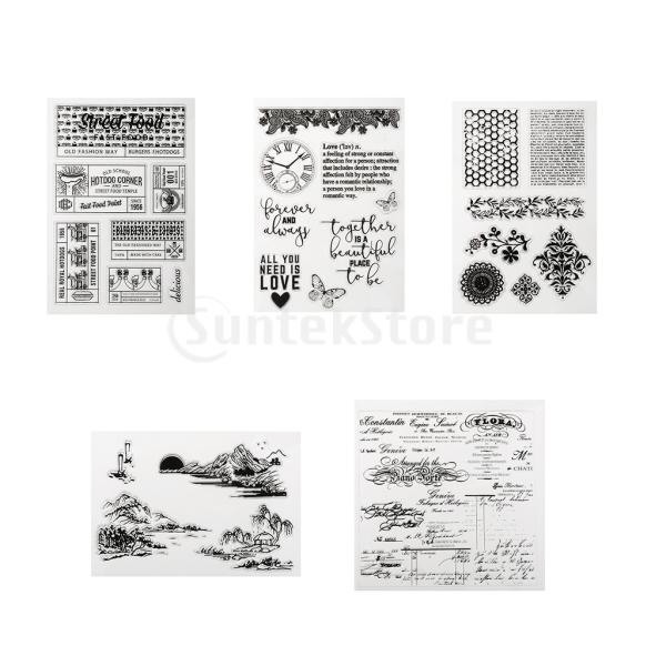 DIYスクラップブックアルバムのためのクリアなシリコーンゴムスタンプ stk-shop 06