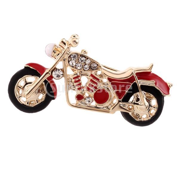 ファッション繊細なラインストーンエナメルオートバイのブローチピンの男性の宝石類