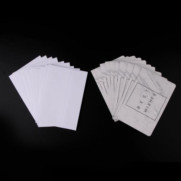 10枚 グリーティングカード 封筒付き 大理石の形 挨拶状 招待状 6タイプ選べ
