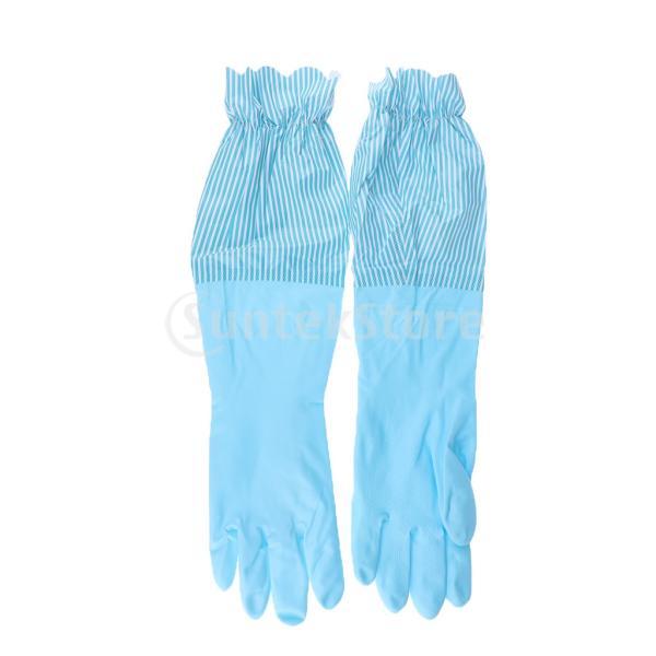 キッチンゴム手袋 裾絞り 長さ49cm ロング 防水 3カラー 再使用可能 台所食器洗い 洗車 洗濯 掃除|stk-shop|11