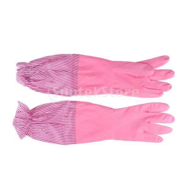 キッチンゴム手袋 裾絞り 長さ49cm ロング 防水 3カラー 再使用可能 台所食器洗い 洗車 洗濯 掃除|stk-shop|09