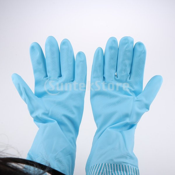 キッチンゴム手袋 裾絞り 長さ49cm ロング 防水 3カラー 再使用可能 台所食器洗い 洗車 洗濯 掃除|stk-shop|03