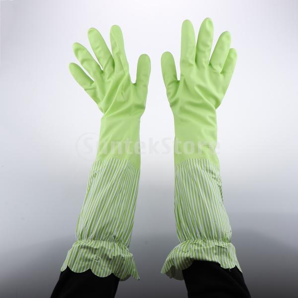 キッチンゴム手袋 裾絞り 長さ49cm ロング 防水 3カラー 再使用可能 台所食器洗い 洗車 洗濯 掃除|stk-shop|04