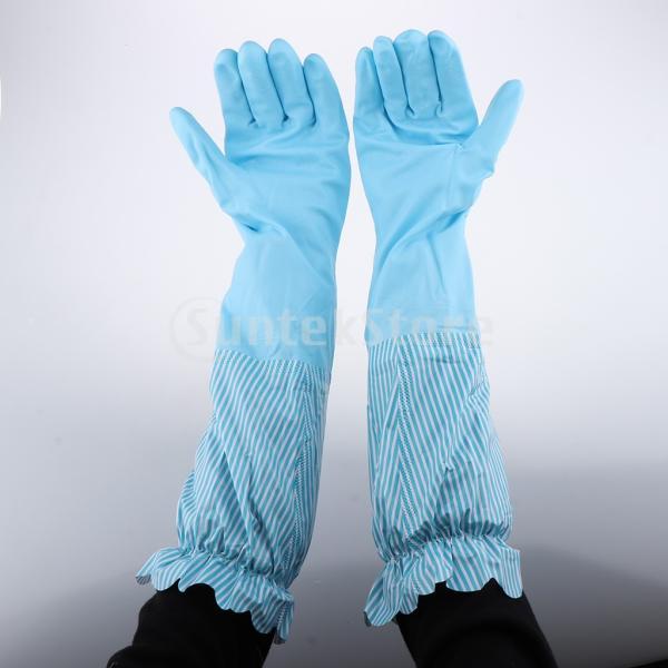キッチンゴム手袋 裾絞り 長さ49cm ロング 防水 3カラー 再使用可能 台所食器洗い 洗車 洗濯 掃除|stk-shop|06