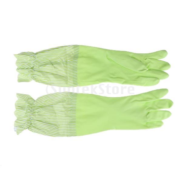 キッチンゴム手袋 裾絞り 長さ49cm ロング 防水 3カラー 再使用可能 台所食器洗い 洗車 洗濯 掃除|stk-shop|10