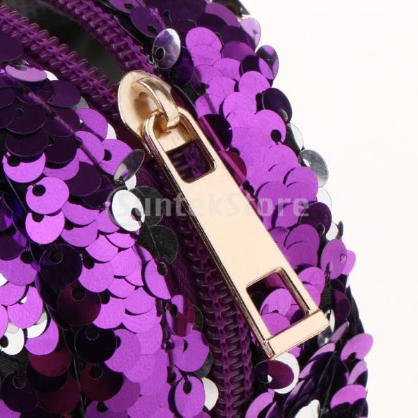 ガールズスパンコールユニコーンコイン財布ミニバックパックバッグチャームキーホルダー付き
