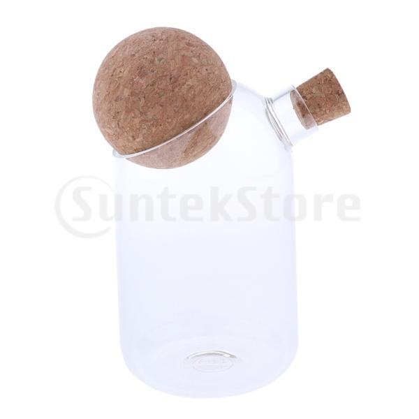 ガラス瓶 食品貯蔵容器 キャニスター 穀物 コーヒー豆 茶葉  調味料差し キャンデー コルク栓  キッチン