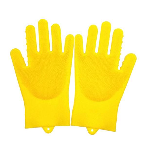 シリコン 皿洗い 洗浄手袋 スクラバー キッチン 家庭用 防水 全5色