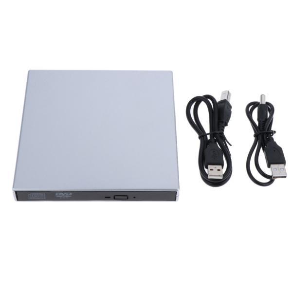 外付けUSB 2.0 CD DVD RWドライブ  光学式ドライブ 読取・書込 PC ラップトップ用  スリム 軽量|stk-shop