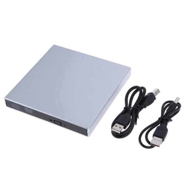 外付けUSB 2.0 CD DVD RWドライブ  光学式ドライブ 読取・書込 PC ラップトップ用  スリム 軽量|stk-shop|02