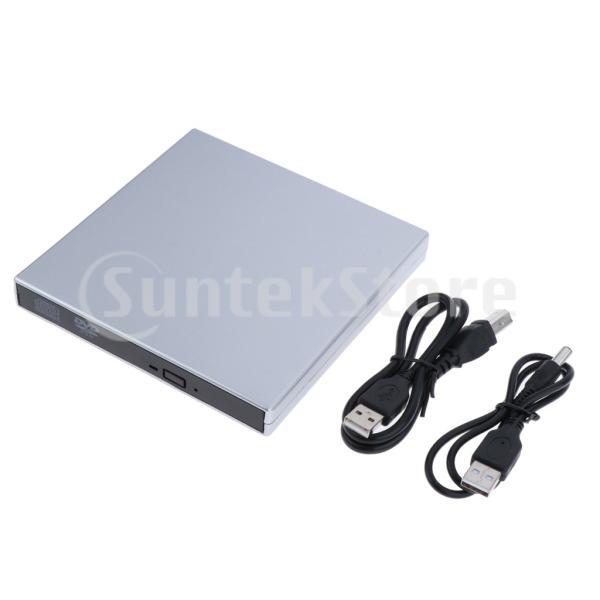 外付けUSB 2.0 CD DVD RWドライブ  光学式ドライブ 読取・書込 PC ラップトップ用  スリム 軽量|stk-shop|12