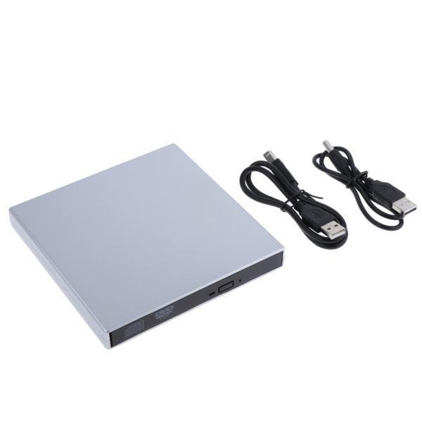 外付けUSB 2.0 CD DVD RWドライブ  光学式ドライブ 読取・書込 PC ラップトップ用  スリム 軽量|stk-shop|03