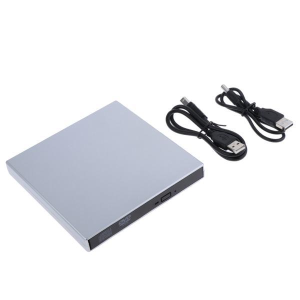 外付けUSB 2.0 CD DVD RWドライブ  光学式ドライブ 読取・書込 PC ラップトップ用  スリム 軽量|stk-shop|05