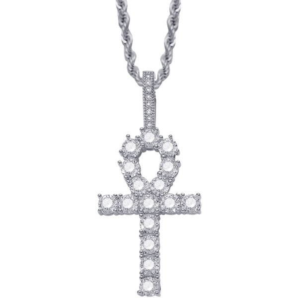 キークロスペンダント クロスペンダント ネックレス 水晶 クロスデザイン ペンダント クロス 女性 男性 全2色
