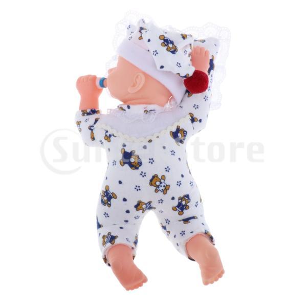 幼児ドール 赤ちゃん人形 フィギュア 可動ボディ ジャンプスーツ おせわパーツ付き 約30cm 全4色