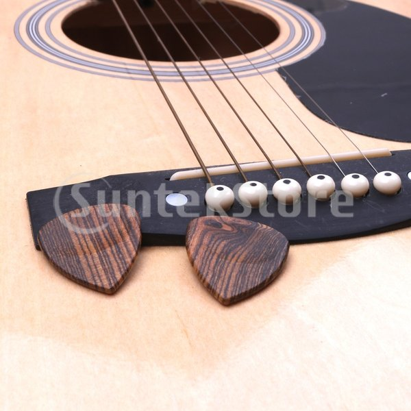 ギターピック ベースピック 木製 ギタープレクトラム 全3タイプ