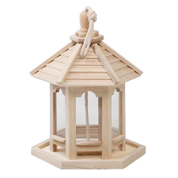 野鳥 餌台 餌入れ 餌箱 手作り ぶら下げ 木製 ガゼボ ガーデン 屋外 装飾