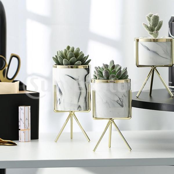 霜降りセラミック植物多肉プランター植木鉢ホームオフィス装飾