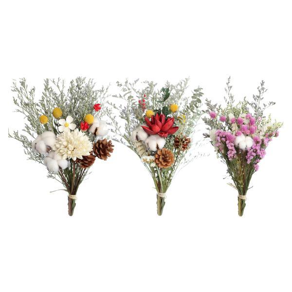 茎自然乾燥花ローズ綿ユーカリデイジー装飾ドライフラワーミニ花工芸花束結婚式diyのホームパーティーデコレーション