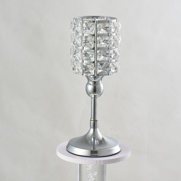 クリスタルキャンドルホルダースタンド燭台テーブルセンターピース.エレガントな & ユニークな中空デザイン