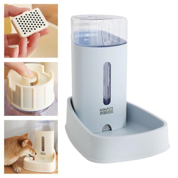 自動ペットフィーダー小中ペット自動給水器3.8L.トラベル供給フィーダと水ディスペンサー犬猫用ペット動物