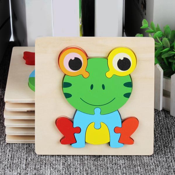 3D動物パズルジグソーパズル形状パズル動物就学前のおもちゃ子供のための3,4.5,6歳