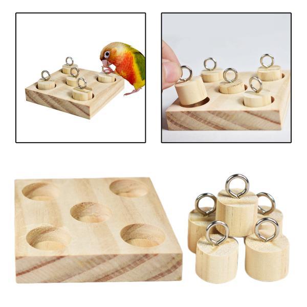 鳥の木製ブロックパズルtraingingおもちゃオウム知育玩具ハムスターgerbilセキセイインコインコオカ恋人たち