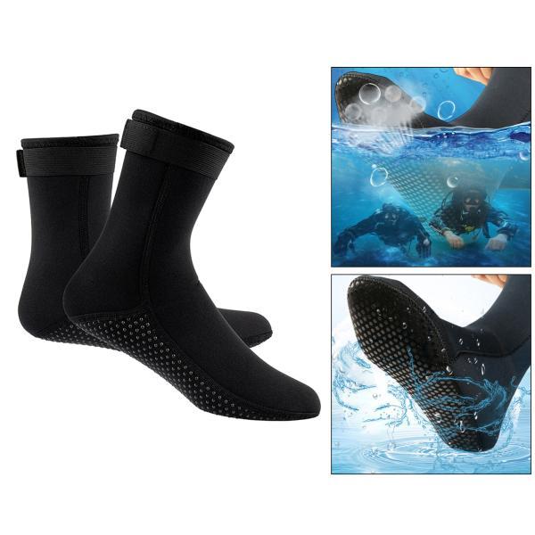 ネオプレンソックス3ミリメートルビーチ防水ソックスブーツ靴下ダイビング水泳サーフィンシュノーケリングワタリカヤックラフティング