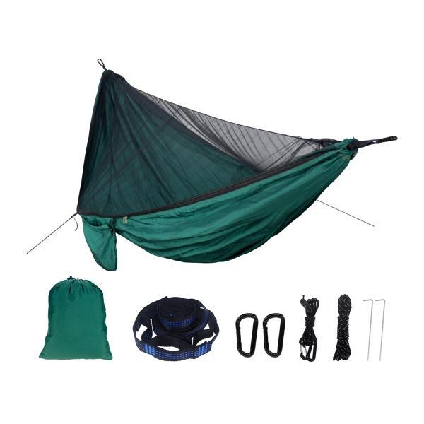 キャンプハンモックネット、軽量ハンモックネッティングと、ポータブルハンギングベッドスイング屋内、屋外、ハイキング、バックパッキング、旅行、庭