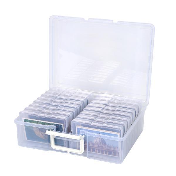 シードビーズステッカー和紙テープ、インデックスカードホルダー、画材に適したフォトクラフトオーガナイザーコンテナ用多機能収納ボックス