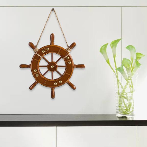 地中海装飾木製船ホイールボートラダー装飾航海誕生日パーティー装飾用品