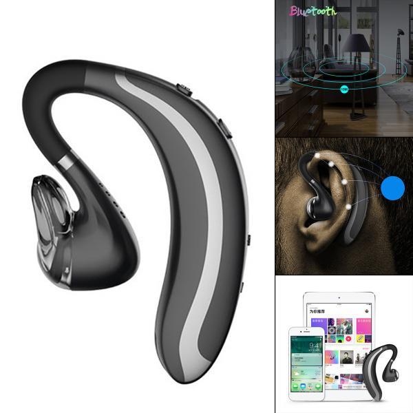Bluetooth 5.0ヘッドフォン、180mAh、長持ちするスポーツイヤーフックスタイルイヤホン音声プロンプト機能防水ビジネスジムスポー