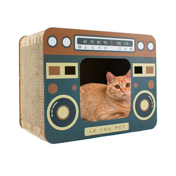 子猫の車のリビングルームの寝室のための段ボール猫の家の洞窟プレイハウスペットクラフトハウス