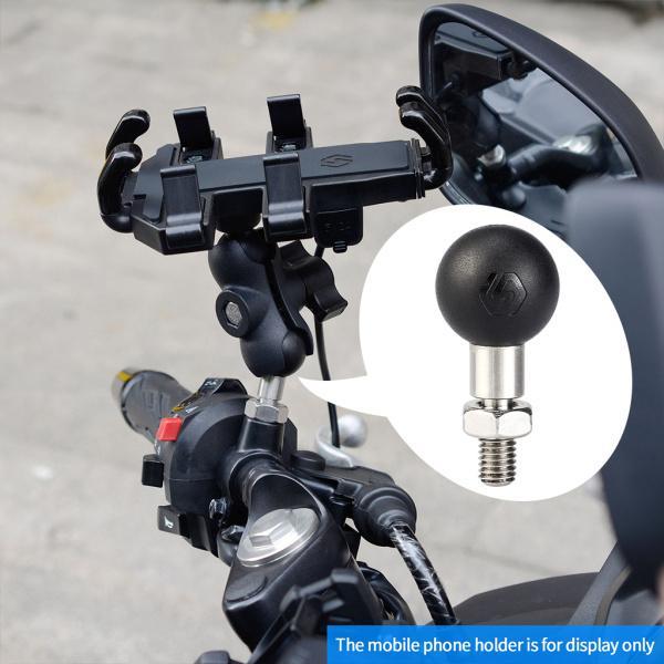 モーターサイクルボルトボールアダプター1 インチ/25mmボール8mm/10mmネジ部品交換用モーターサイクルハンドルバークランプベース